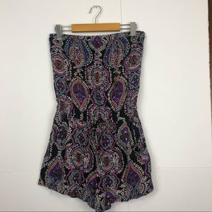 3/$30 Angie Multi-Coloured Romper Sz M